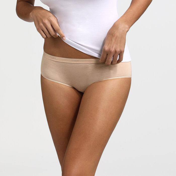 Lot de 3 Boxers blanc/peau/noir Les Pockets Coton, , DIM