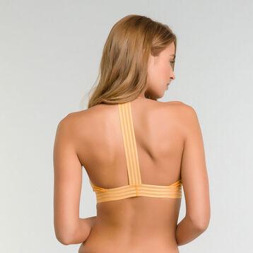 Soutien-gorge sans armatures triangle dentelle jaune or - MOD de Dim, , DIM