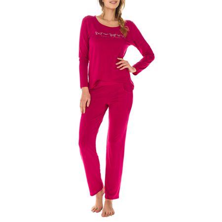 ac1caccad2b68 T-shirt de pyjama manches longues rouge en modal Femme. Ref 033D. 15,33 €  21,90 €. Description