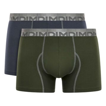 Lot de 2 boxers Gris Granit et Vert Kaki 3D Flex Morphotec, , DIM