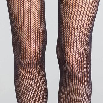 Collant résille à rayures verticales noires 73D - Dim Style, , DIM