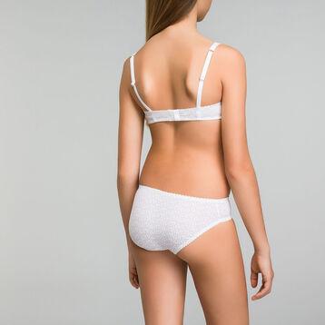 Soutien-gorge fille à armatures blanc imprimé logo - Dim Touch, , DIM