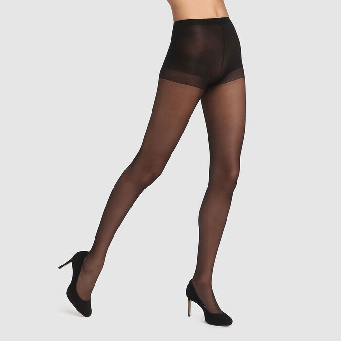 Collant Beauty Resist silhouette fine noir 15D, , DIM