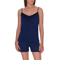 Short de pyjama bleu encre Femme-DIM