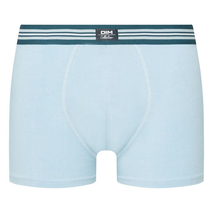 Boxer homme en coton stretch Bleu clair Smart Boxer, , DIM