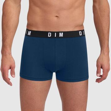 Boxer vert bleuté seasl rocks coton modal ceinture unie Dim Originals, , DIM