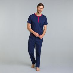 Pantalon de pyjama bleu matelot Night Signature-DIM