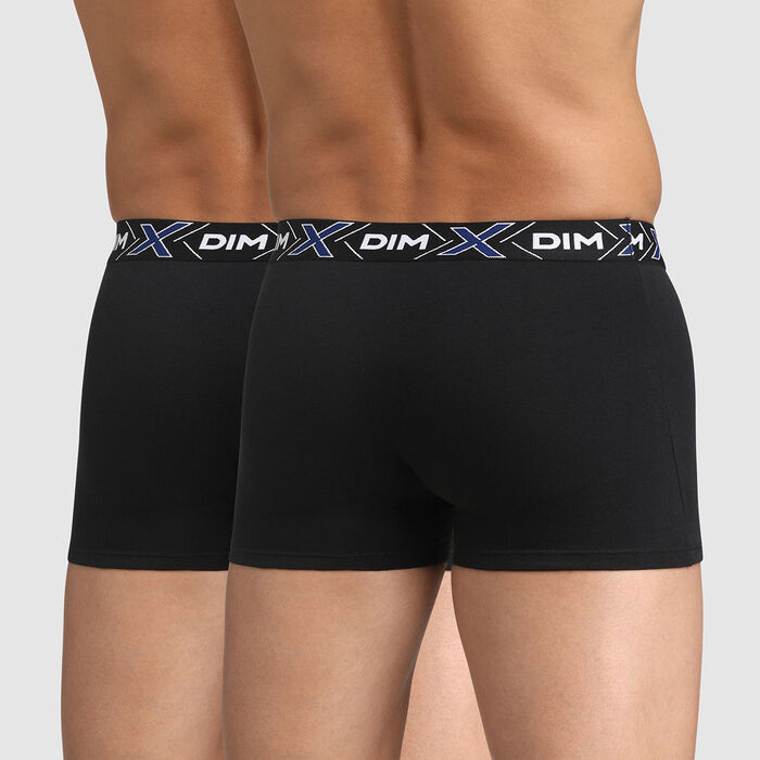 Lot de 2 boxers noirs X-Temp en coton stretch, , DIM