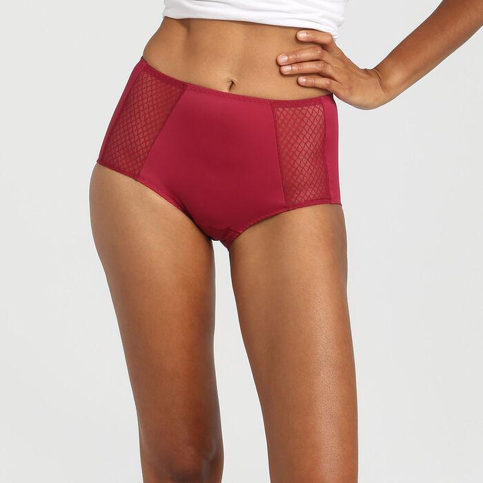Culotte taille haute ventre plat rouge vernis EcoDim, , DIM