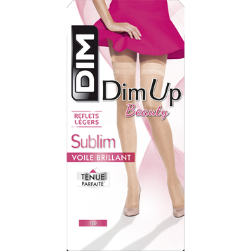 DIM Up Sublim beige doré voile brillant 15D, , DIM