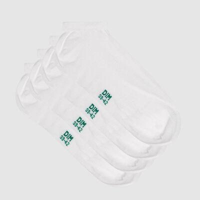 Lot de 2 paires de socquettes homme en coton bio blanc Green by Dim, , DIM