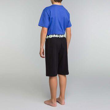 Pyjama garçon 2 pièces bleu encre et noir - Nuit Tokyo, , DIM