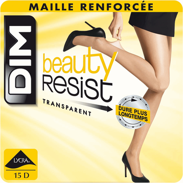 Lot de 2 collants transparents noirs Beauty Resist 15D, , DIM
