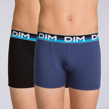 Lot de 2 boxers navy blue Eco Dim DIM BOY, , DIM