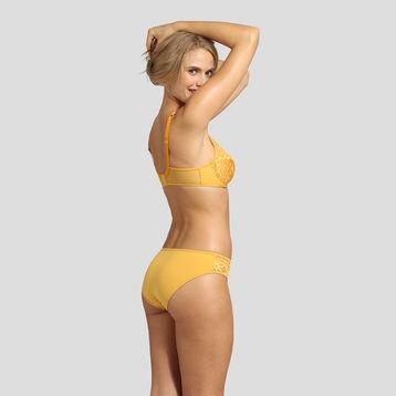 Culotte en microfibre broderie jaune or Generous Mod de Dim, , DIM