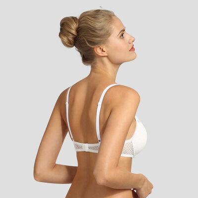 Soutien-gorge foulard push-up en dentelle blanc Résille Chic de Dim, , DIM