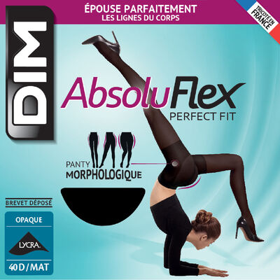 Collant noir AbsoluFlex opaque 40D, , DIM