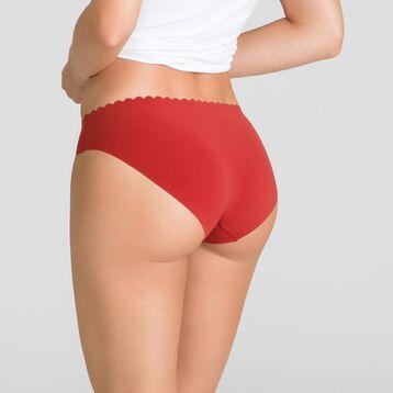Lot de 2 slips noir et rouge cuivré Body Touch-DIM