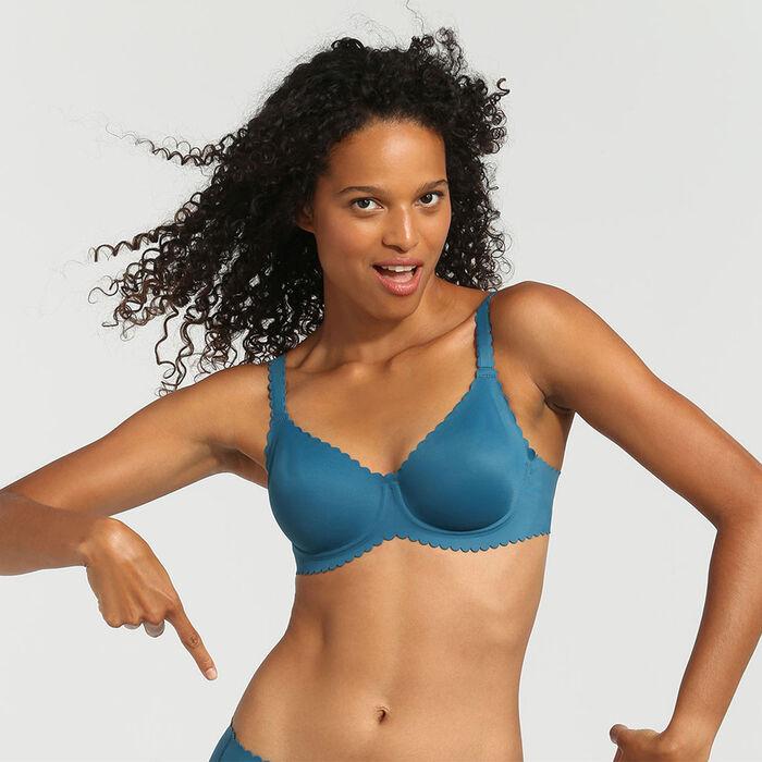 Soutien-gorge corbeille avec armatures bleu organique Body Touch Dim, , DIM