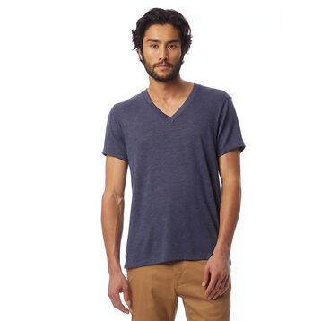 T-shirt col en V Eco-Jersey™ bleu marine à manches courtes Homme-DIM