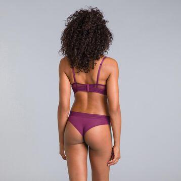 Soutien-gorge corbeille dentelle violet grenat Daily Glam-DIM