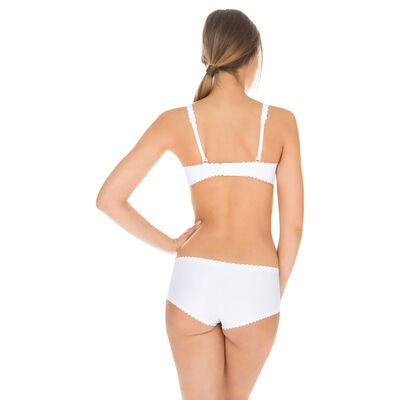 Shorty blanc en microfibre Body Touch Dim, , DIM
