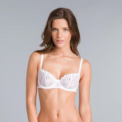 Soutien-gorge corbeille broderie blanche Chic Line-DIM