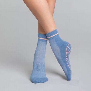 Chaussettes impact léger yoga bleu chiné et rose - Dim sport, , DIM