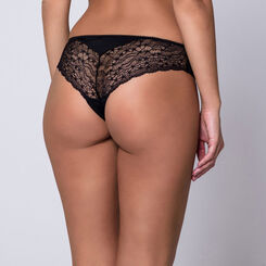 Slip noir en dentelle Generous Féminine-DIM