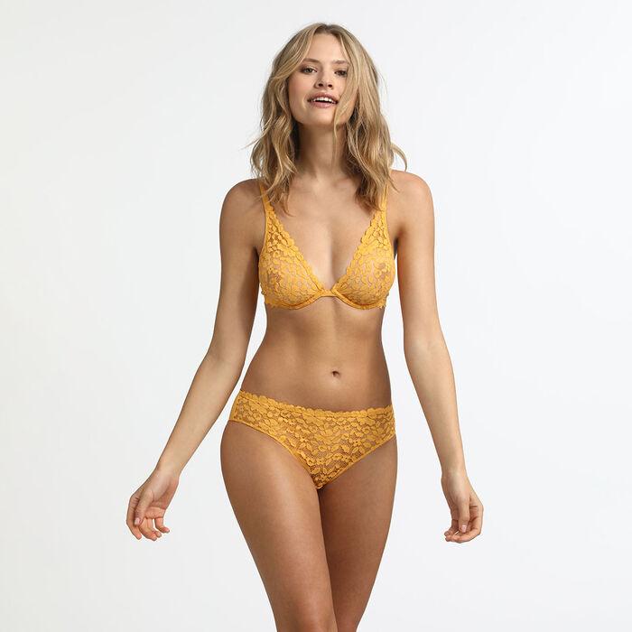 Soutien-gorge foulard avec armatures jaune or Blooming Lace Dim, , DIM