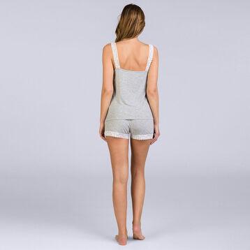Caraco gris chiné Pure Essential Femme-DIM
