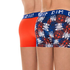 Lot de 2 boxers orange et imprimé California DIM Boy-DIM