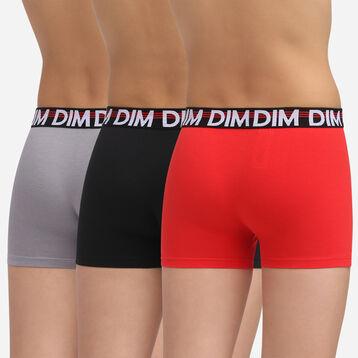 Lot de 3 boxers Coquelicot pour garçon en coton stretch Promo Eco Dim, , DIM