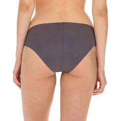 Slip gris taupe en microfibre Nude Support-DIM