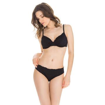 Bas de maillot de bain ajouré noir culotte Femme-DIM