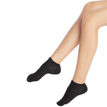 Socquettes noires coton mélangé Spécial Baskets-DIM