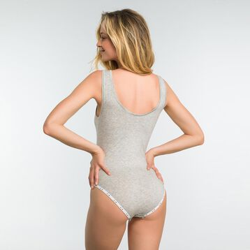 Body gris chiné en coton femme - DIM Originals, , DIM