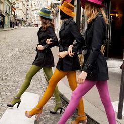 Collant amarante opaque velouté Style 50D, , DIM
