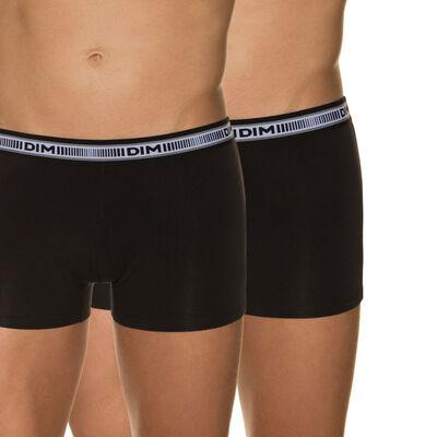 Lot de 2 boxers noirs 3D Flex coton extensible, , DIM