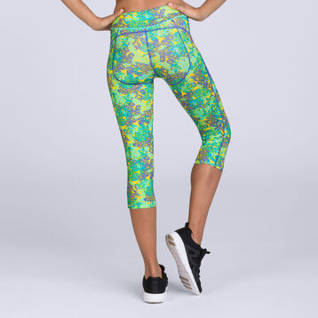 Legging court imprimé géométrique Active Wear Shock Absorber-SHOCK ABSORBER