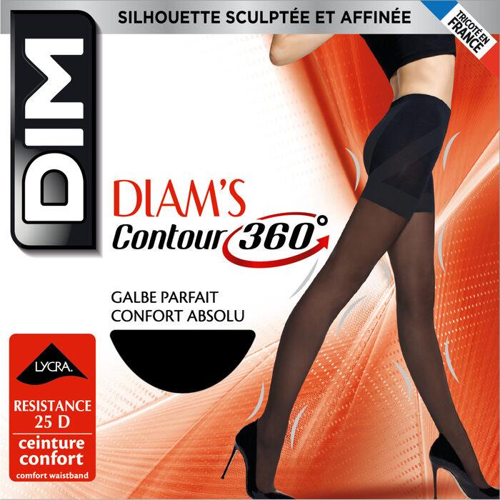 Collant noir Diam's Contour 360° semi-opaque 25D, , DIM