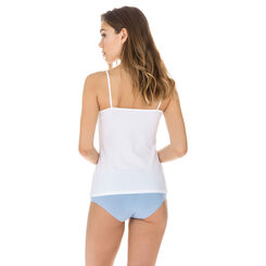 Caraco blanc en coton stretch Les Pockets EcoDIM-DIM