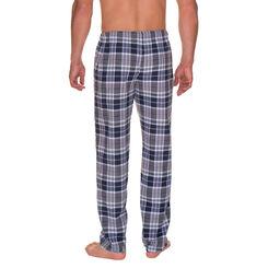 Pantalon de pyjama bleu nuit imprimé carreaux Homme-DIM