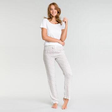 Pantalon pyjama blanc tacheté - Fashion  , , DIM