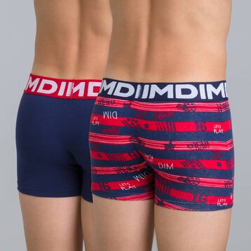 Lot de 2 boxers rouge rubis DIM Boy-DIM
