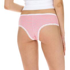 Lot de 2 hipster rose et blanc Les Pockets Coton Fantaisie-DIM