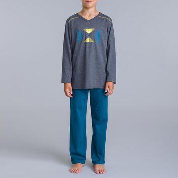 3c49b01bf19e3 Pyjama garçon - t-shirt manches longues   pantalon garçon