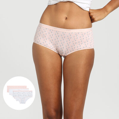 Lot de 3 boxers en coton stretch imprimé love Les Pockets Coton de Dim, , DIM