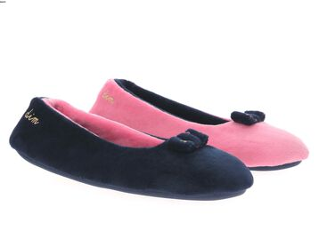 Chaussons rose corail Filles-DIM