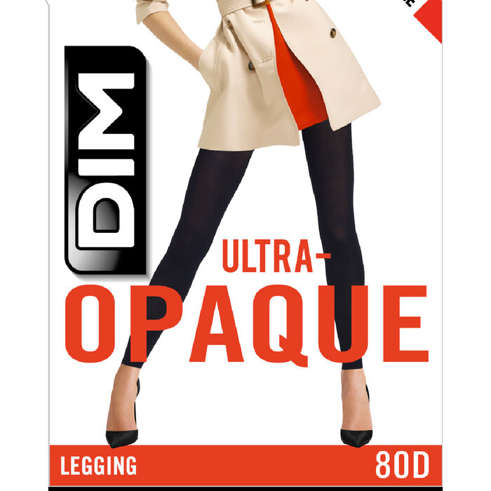 Legging noir opaque velouté 80D Madame so Daily, , DIM